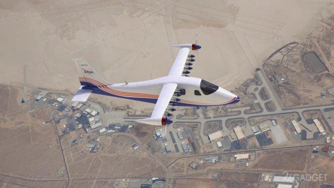 NASA представила окончательный вариант концептуального электрического самолета Maxwell X-57 (3 фото + видео)