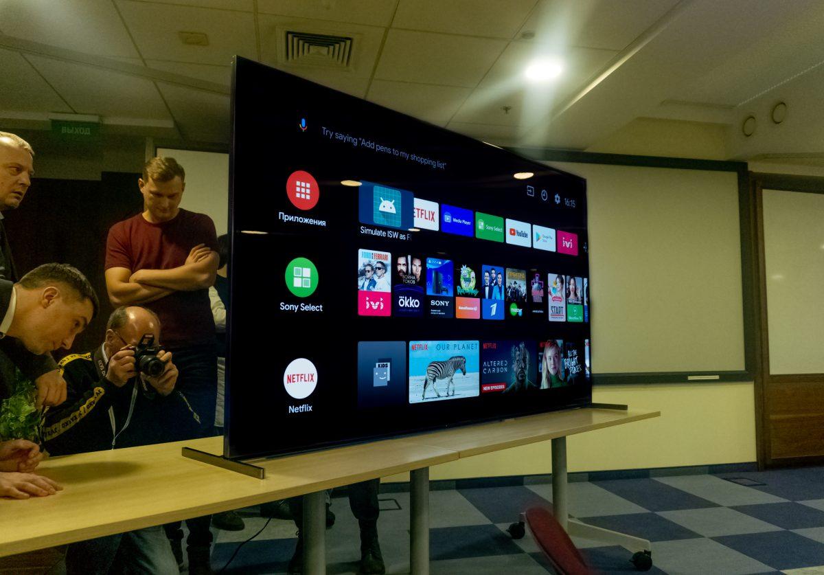 Sony привезла в Россию новейшие модели умных телевизоров