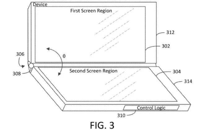 Microsoft запатентовала складное устройство сразу с тремя экранами