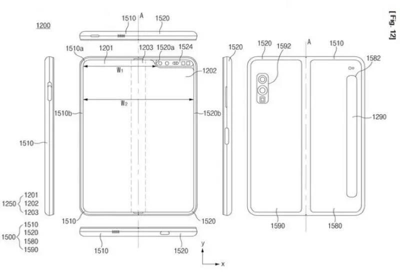 """Новый патент """"рассказал"""", каким будет новый гибкий флагман Samsung Galaxy Fold 2"""