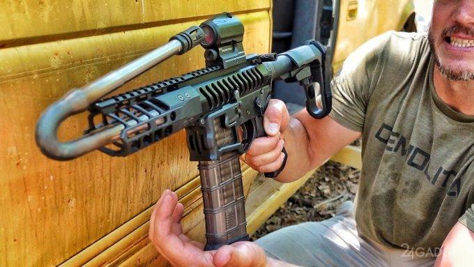 Ютуберы доказали возможность стрелять из винтовки с загнутым практически на 180 градусов стволом (видео)