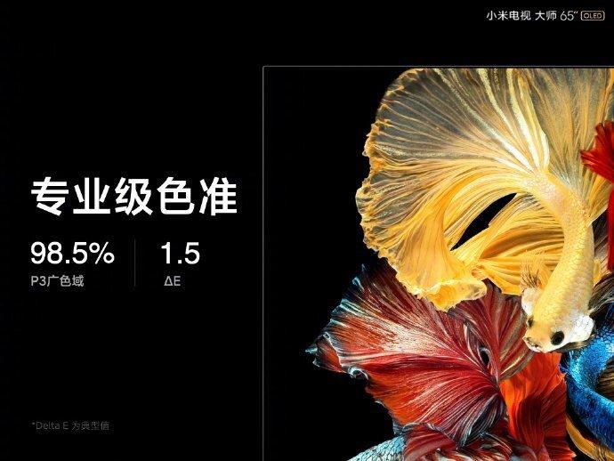 Xiaomi представила свой первый 65-дюймовый OLED-телевизор