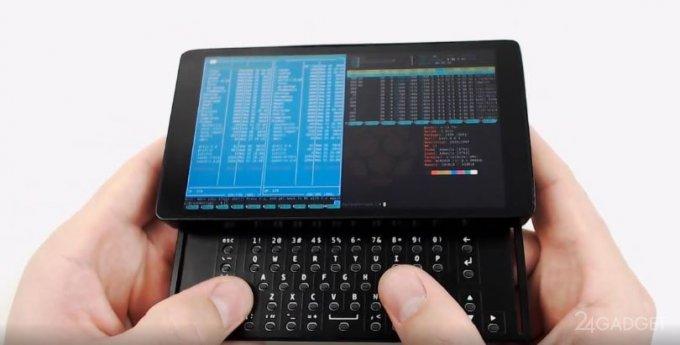 Карманный компьютер на базе Raspberry Pi Zero величиной со смартфон (2 фото + видео)