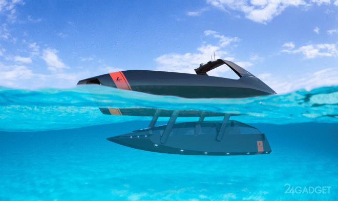 Концепт яхты Platypus Swordfish способной плавать под и над водой (3 фото)