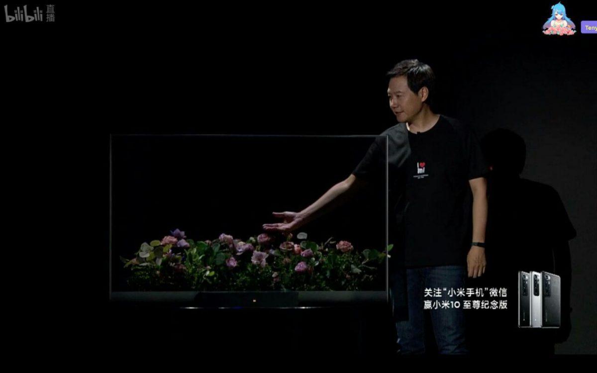 Xiaomi представила «прозрачный» телевизор