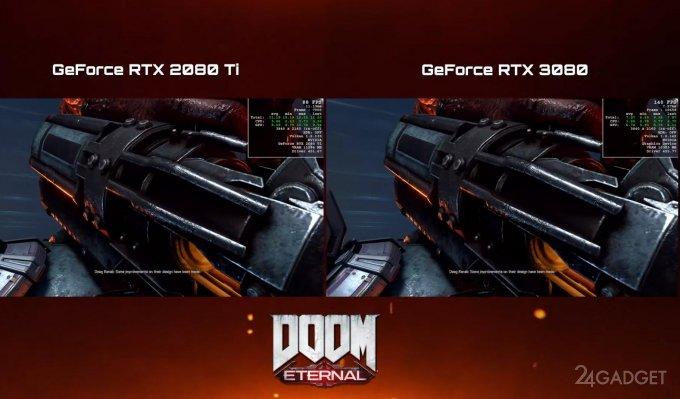 Видеокарта GeForce RTX 3080 оказалась на 50% производительнее 2080 Ti для игр в 4K (видео)
