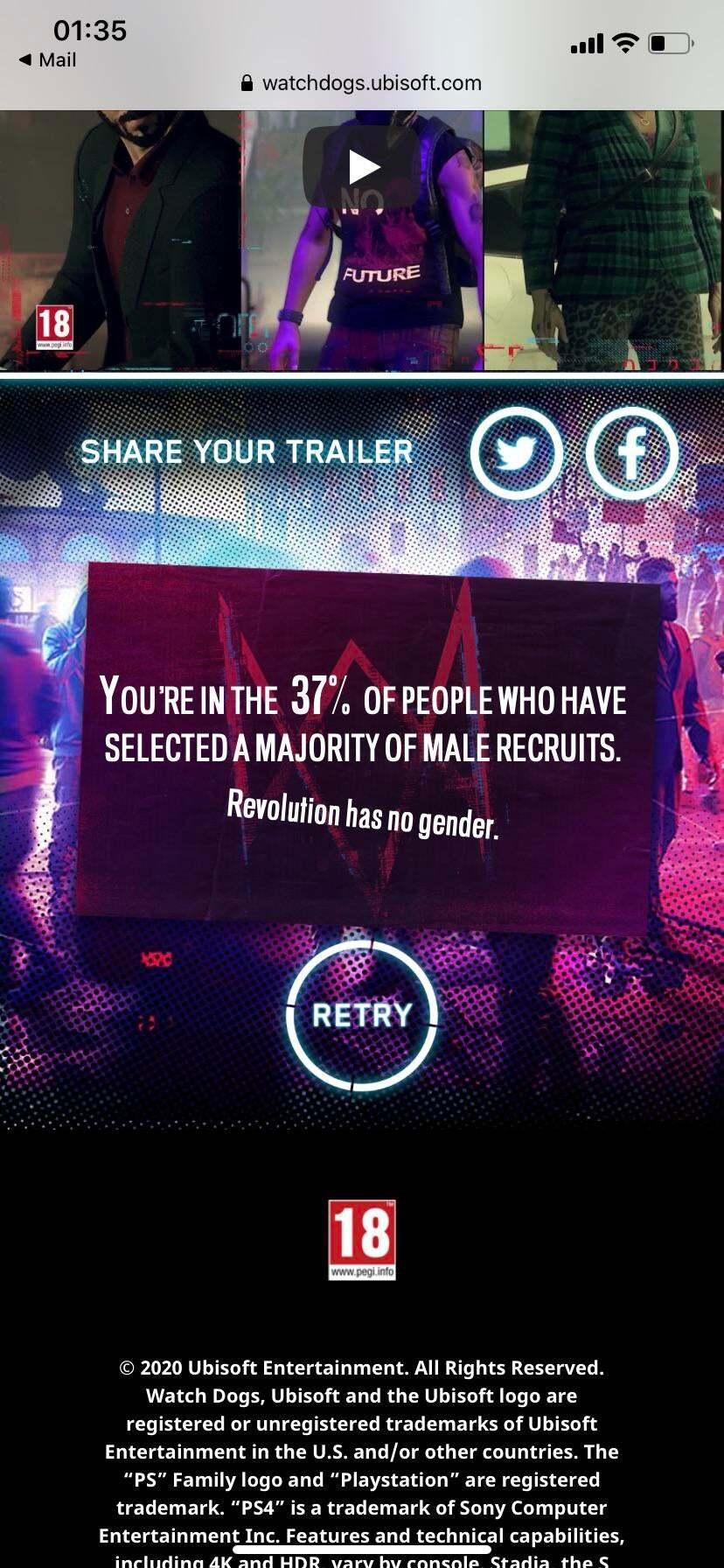 Создатель компьютерной игры Watch Dogs пристыдил пользователей за выбор мужских персонажей