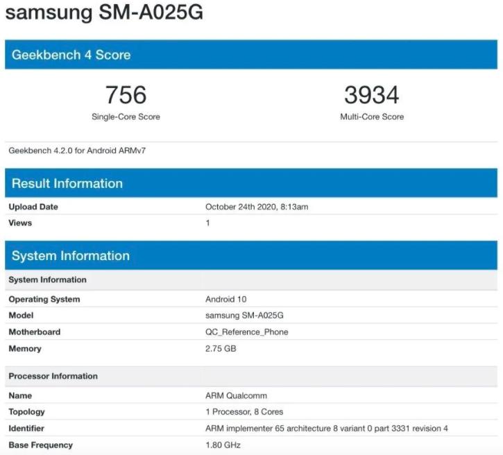 Samsung выпустит бюджетный смартфон Galaxy A02s