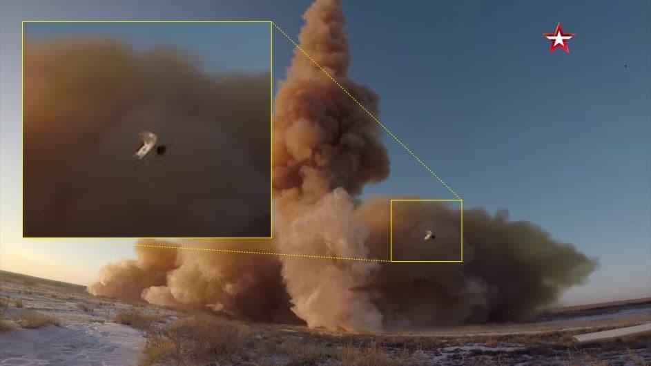 Во время пуска от новой российской противоракеты отлетел обломок