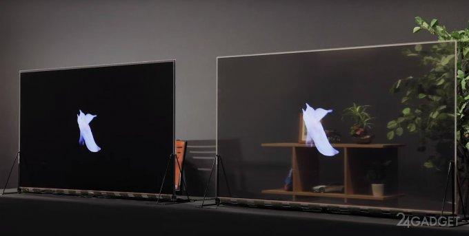 Panasonic начинает продавать первые серийные прозрачные OLED-дисплеи (видео)