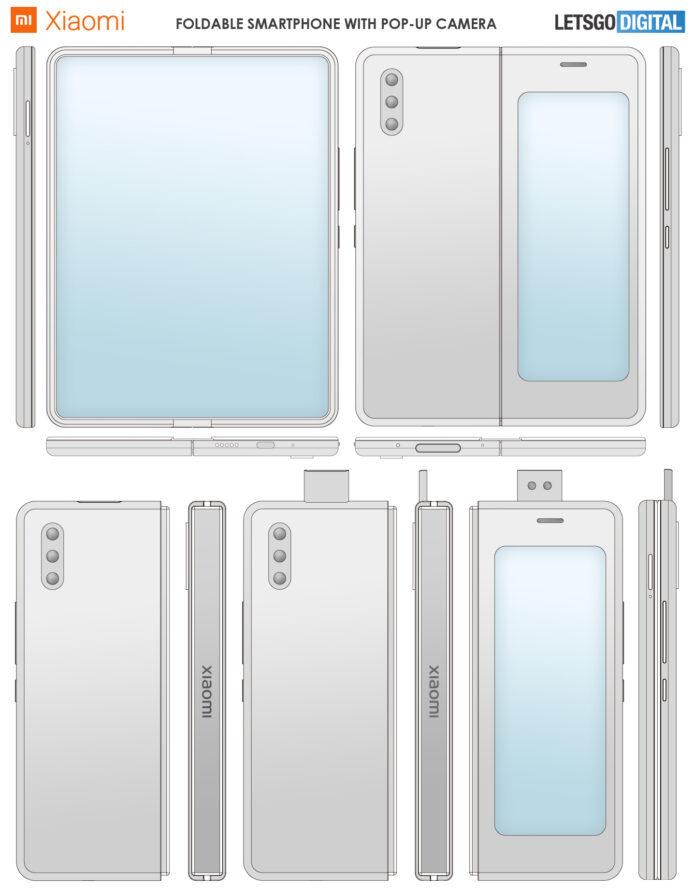 Xiaomi запатентовала первый гибкий смартфон с выдвижной камерой