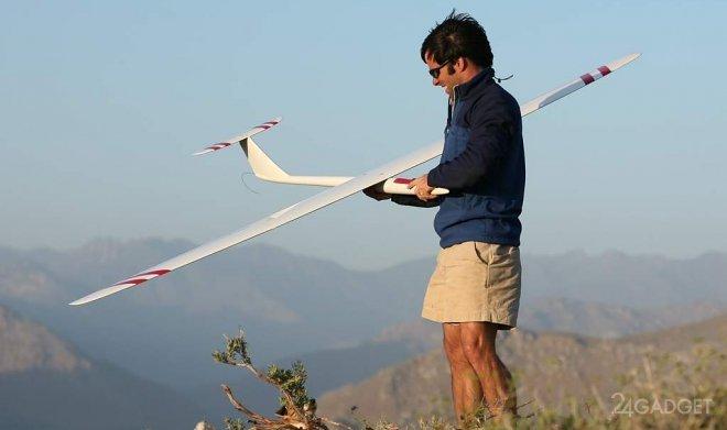 Новый мировой рекорд скорости планера с радиоуправлением теперь составляет 882 км в час (видео)