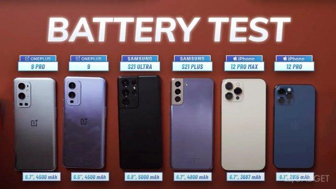 Тесты производительности и автономности OnePlus 9 и 9 Pro в сравнении с флагманами Samsung и Apple (2 фото + видео)