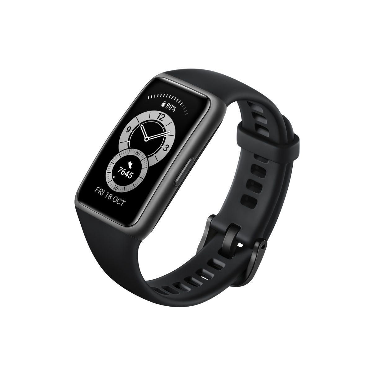 Новый безрамочный фитнес-браслет Huawei Band 6 привезли в Россию