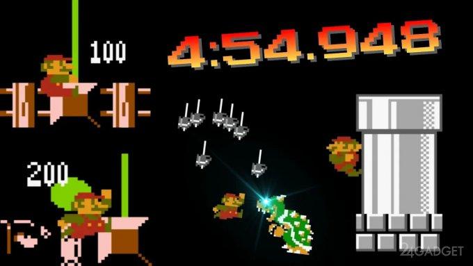 Установлен очередной недосягаемый рекорд в Super Mario Bros (видео)