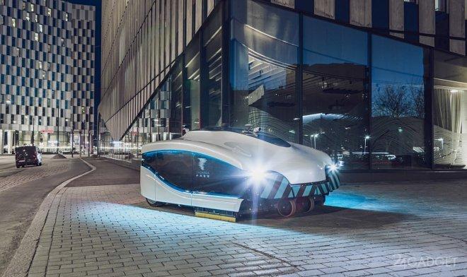 Электрическая автономная уборочная машина Trombia вышла на улицы Финляндии (2 фото + видео)