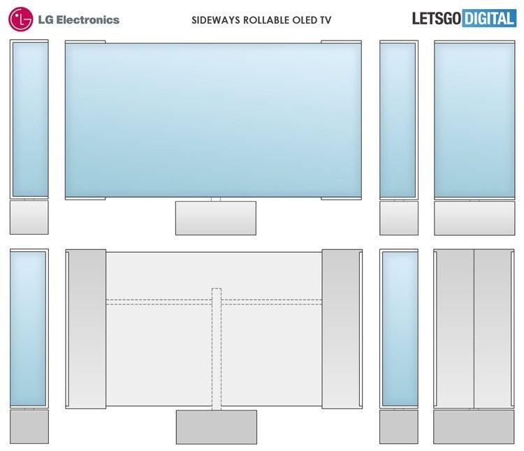 LG изобрела принципиально новый гибкий телевизор