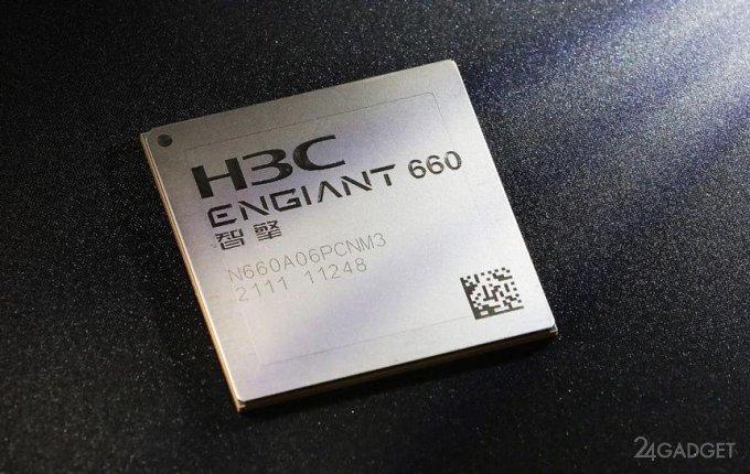 Анонсирована разработка 512-ти ядерного сетевого процессора H3C Engiant 800 (2 фото)