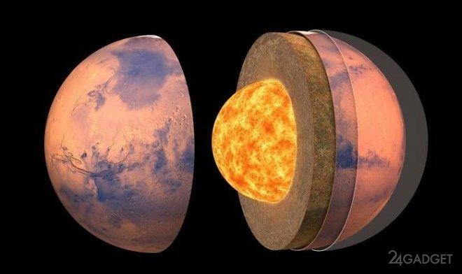 NASA представила «анатомическую» карту внутренней структуры Марса (2 фото)