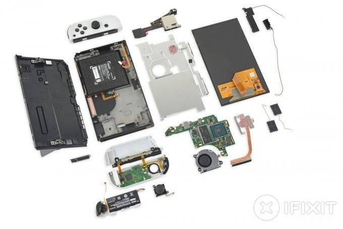 Эксперты iFixit изучили внутреннее устройство консоли Nintendo Switch OLED (5 фото + видео)