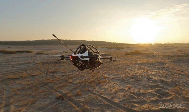 Эффектные испытания персонального летающего транспорта Jetson One (видео)