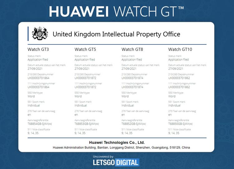 Sony хочет запретить Huawei называть свои часы Watch GT